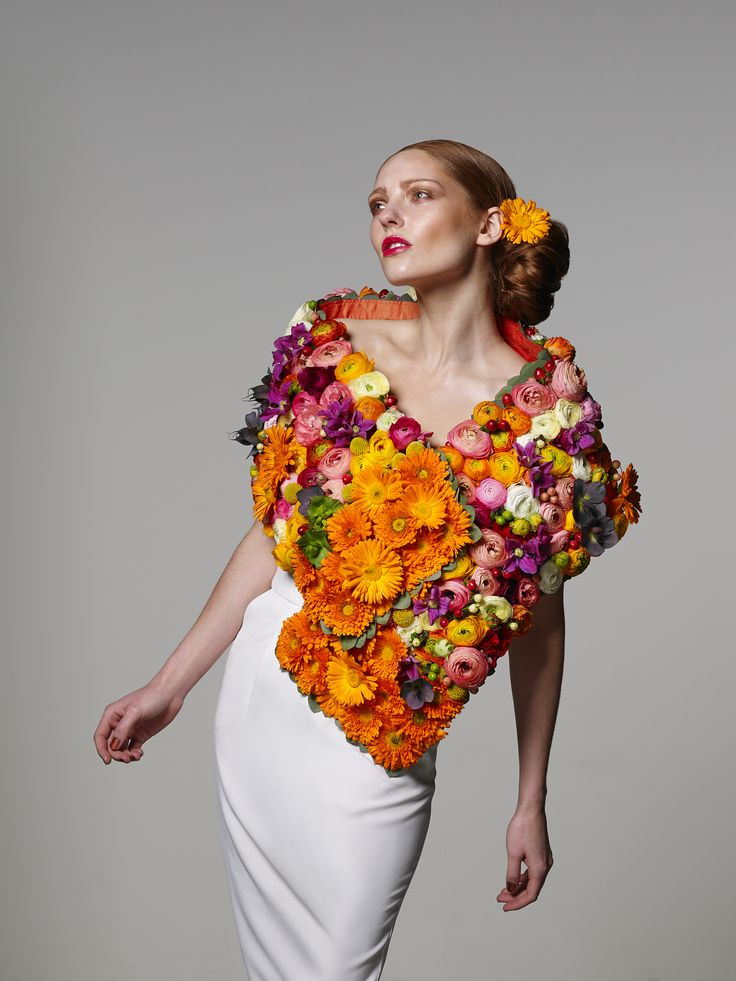 This beautiful floral shawl is an elegant way to accessorise an outfit on a cool summer's evening.