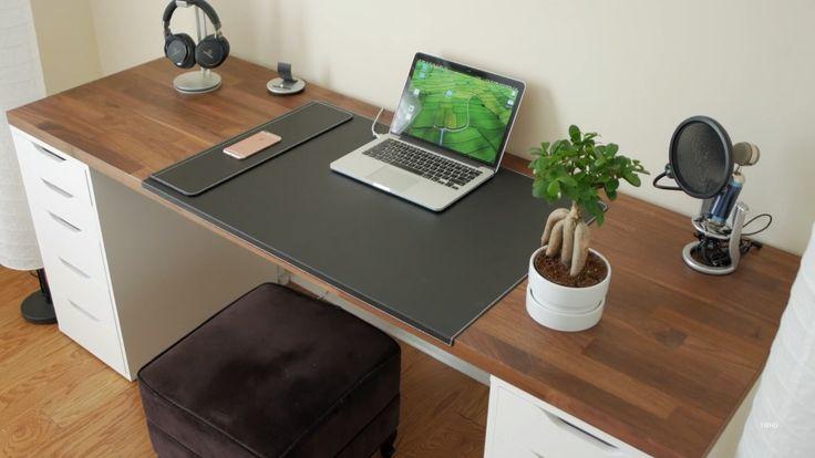 TIAN WU desk setup (good ideas)