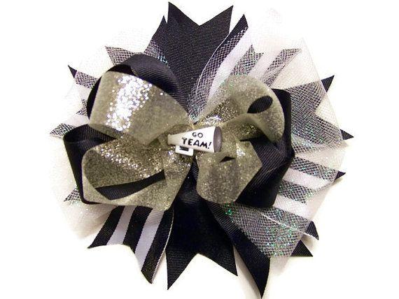 Cheerleader Hair Bow Hair Accessories Dallas by LabMomCreations