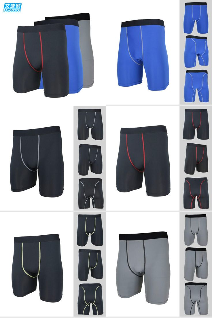 [Visit to Buy] Men's Running Tights Quick Dry Breathable Football  Riding Downhill Shorts Underwear MTB Road Mountain Bike Cycling Underpants #Advertisement
