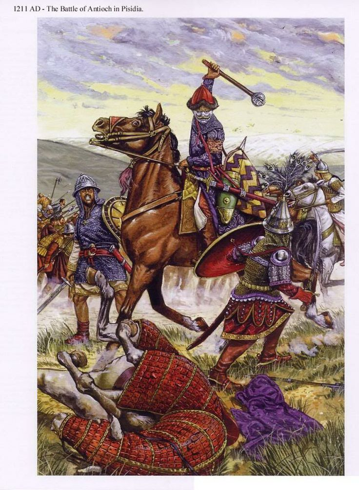 Emperor Theodoros I Laskaris before he personally slew the Turkish sultan Khalikhosru at the battle of Antioch in Pisidia 1211.
