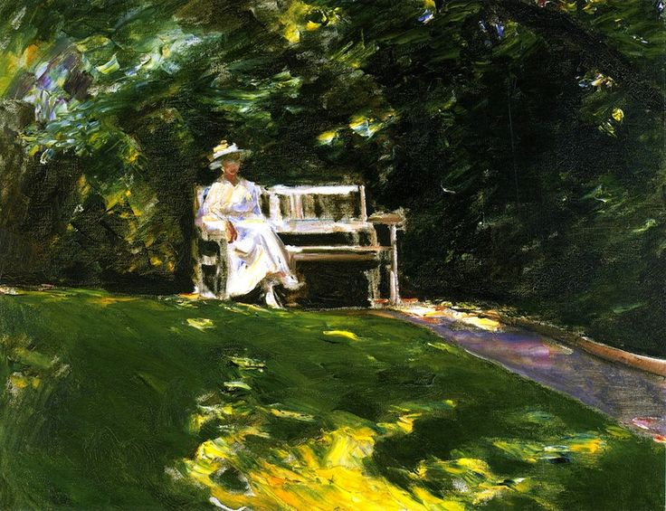 bofransson:    The Garden Bench Max Liebermann - 1916