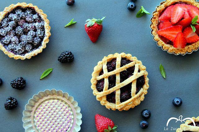 La Zucca candita: Crostatine integrali alla frutta senza burro e uov...