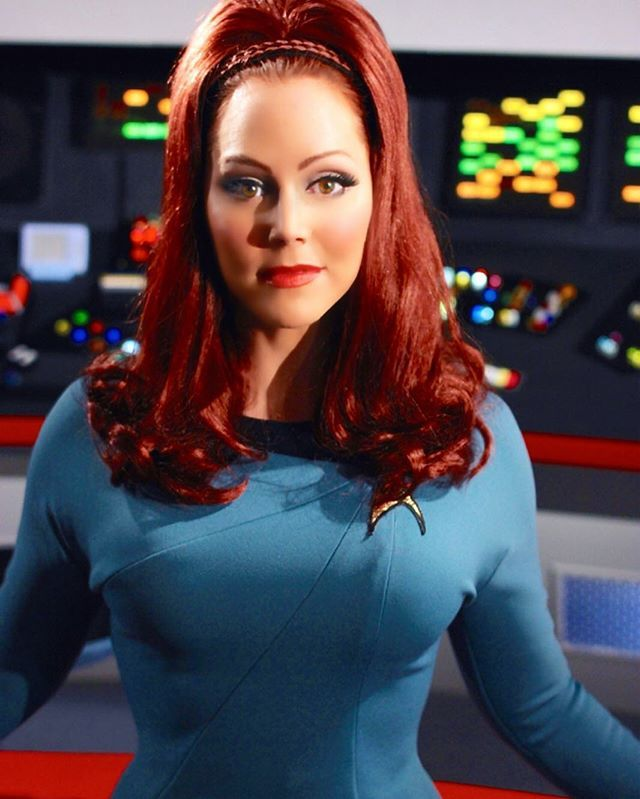 Michele Specht plays Dr. Elise McKenna on Star Trek Continues (an online fan film series that continues the 5 year mission of the original TV series); I've met her and the cast at conventions and they're terrific people.  Making Star Trek purely for love of the game.