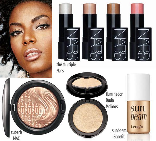 maquiagem para pele negra - blush bronzer contorno iluminador - justfound.com.br 03