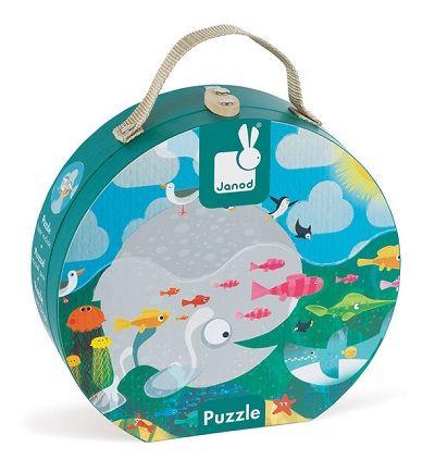 Cena: 77.99zł. Eksresowa wysyłka od ręki. PUZZLE W WALIZCE 24 EL. - OCEAN francuskiej firmy... więcej na www.Tublu.pl #tublu #tublu #toy #forkids #zabawka #dla #dzieci #edukacjna #janod #puzzle #ocean #fish #ryby