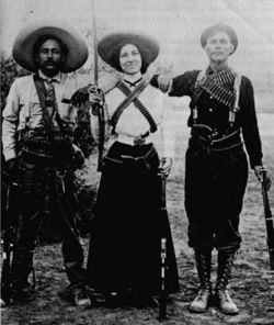 A feminist symbol of the Mexican Revolution, La Adelita was the name of a woman soldier, a soldadera, who followed the troops, helped set up camp, and cooked for the soldiers