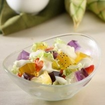 JELLY SALAD WITH CHEESE SAUCE