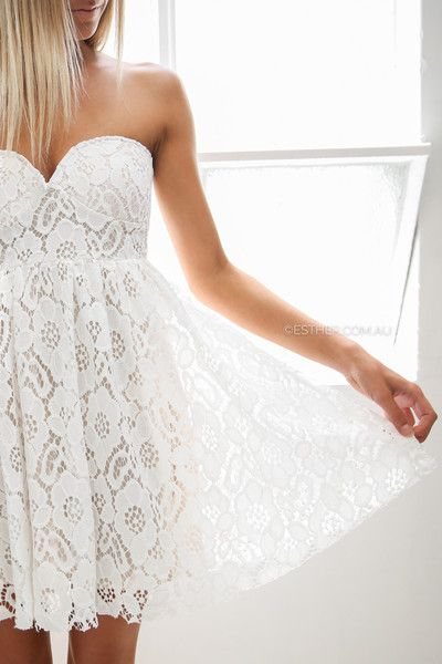 patience lace dress - ivory