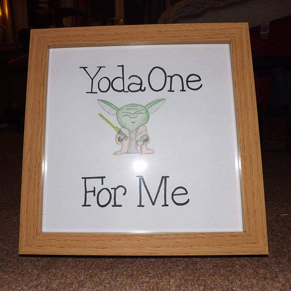 Cute Star Wars Yoda picture frame art.