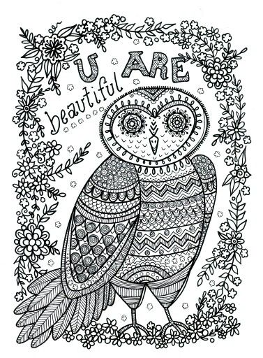 zentangle owl coloring pages - photo#26