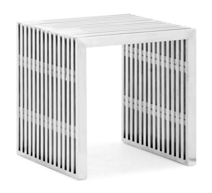 Zuo Modern Novel Single Bench Novel Single Bench Brushed Stainless Steel Furniture Seating Benches