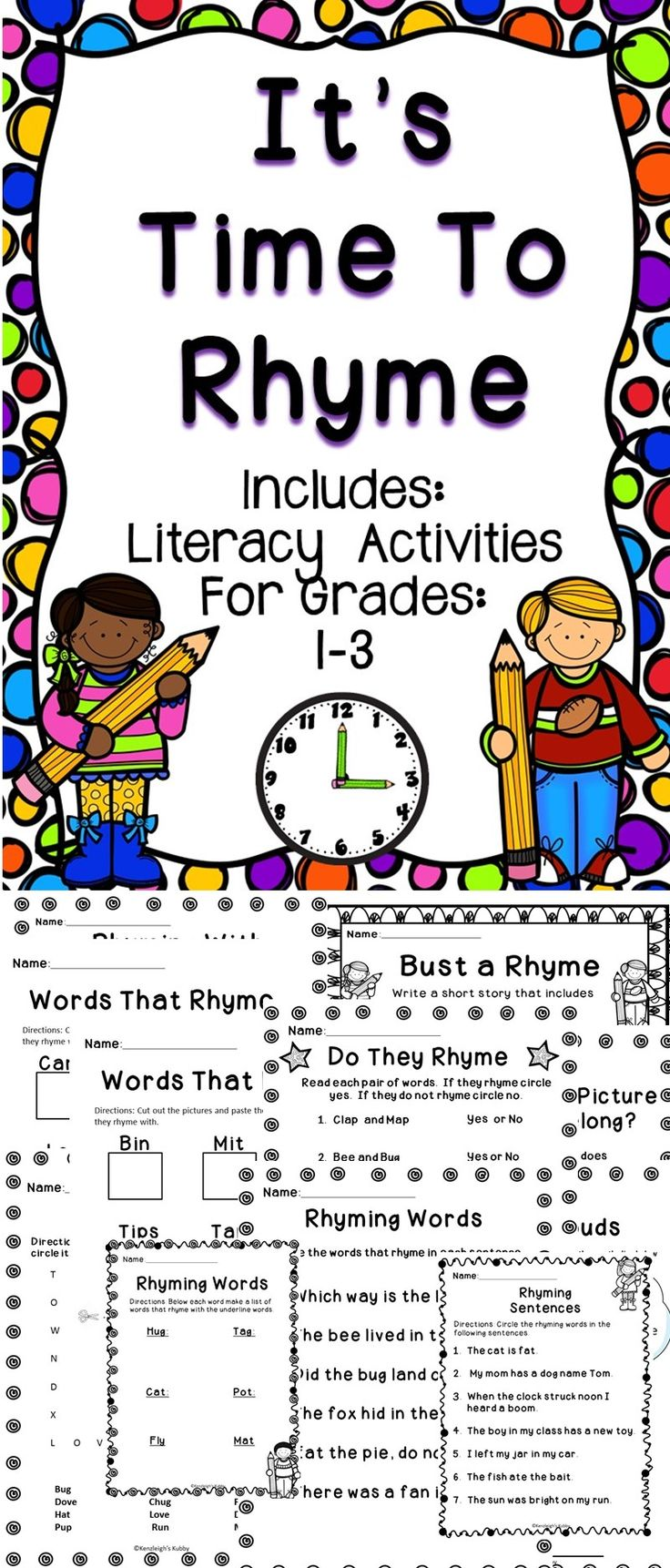 Worksheet Help Rhyming Words rhyming words a fun supplemental activity book to help teach students about this no prep will be gre