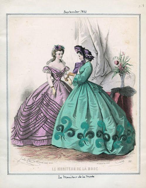 Moniteur de la Mode, September 1862.  LAPL Visual Collections.