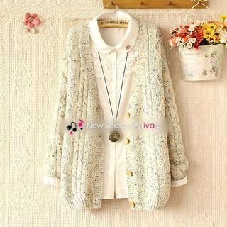 Mélange Cable-Knit Cardigan from #YesStyle <3 Munai YesStyle.com