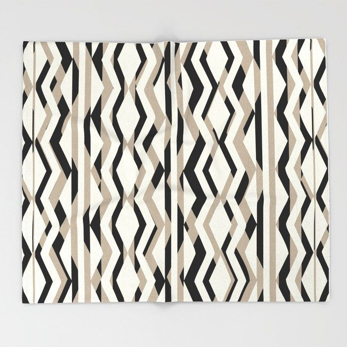 Geometric Pattern Throw Blankets Are The Secret Sherpa Fleece Even Better They Get Softer The More You Wash Them They Re A Perfect Addition Beige
