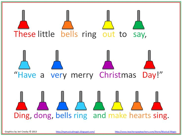 poems about christmas bells   Christmas Bells for Primary Grades