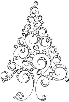 Doodle Tree! This one would work nice for a quilled tree too.