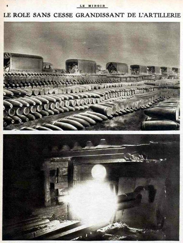 WWI, Verdun, food for the heavy guns.