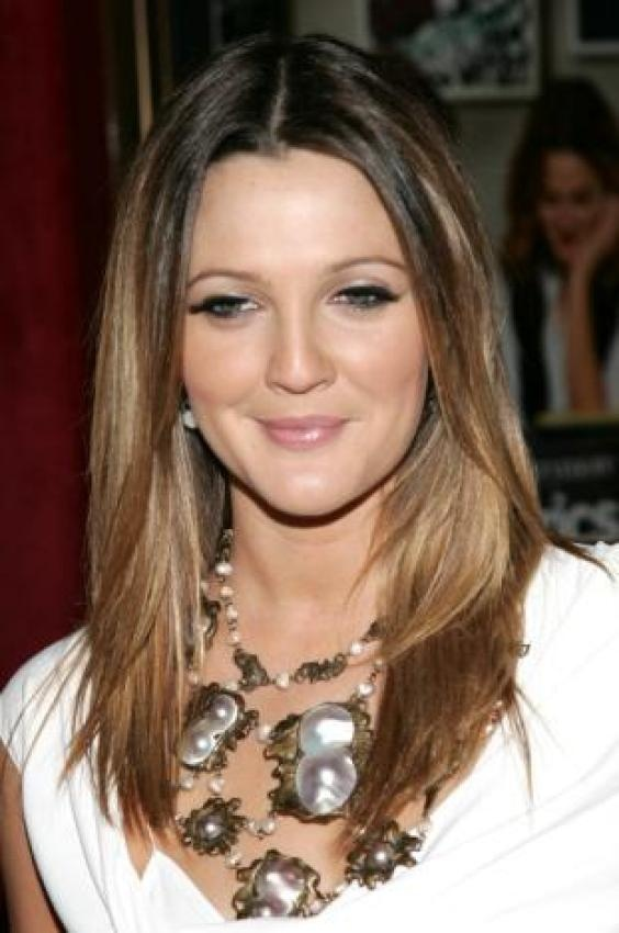 Drew Barrymore. I always dig her hair color!