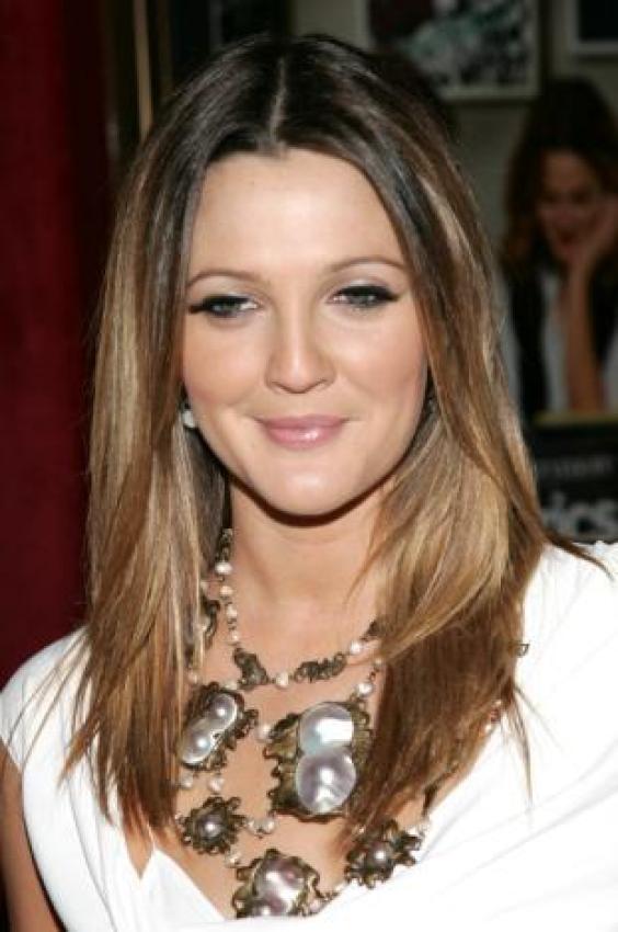 Drew Barrymore. I always dig her hair color!