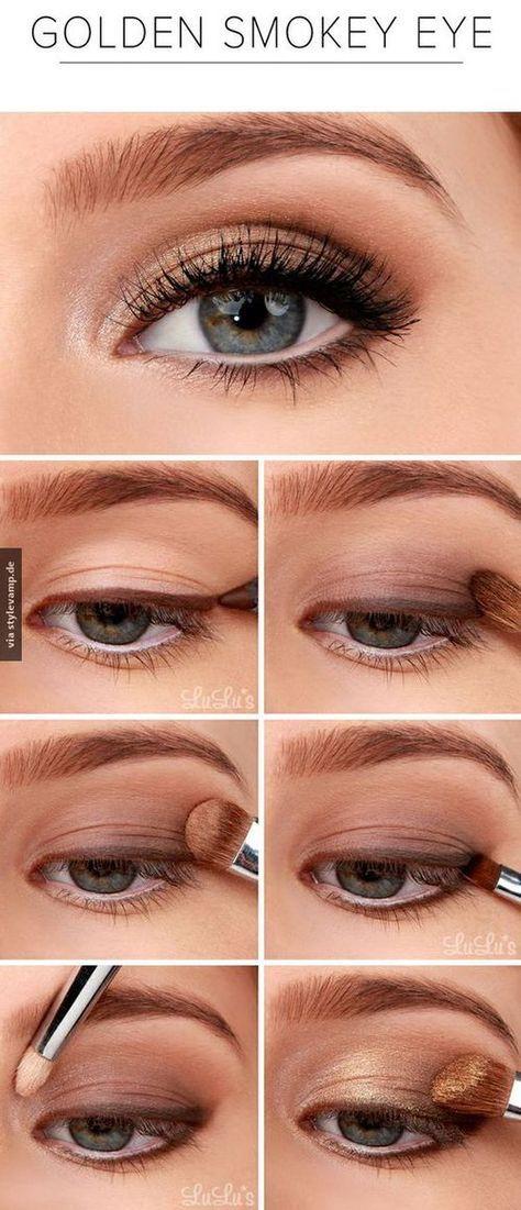Leuke variant op de smokey eye: de gouden smokey eye