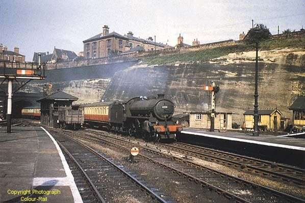 Nottingham Victoria Station looking north in September 1956