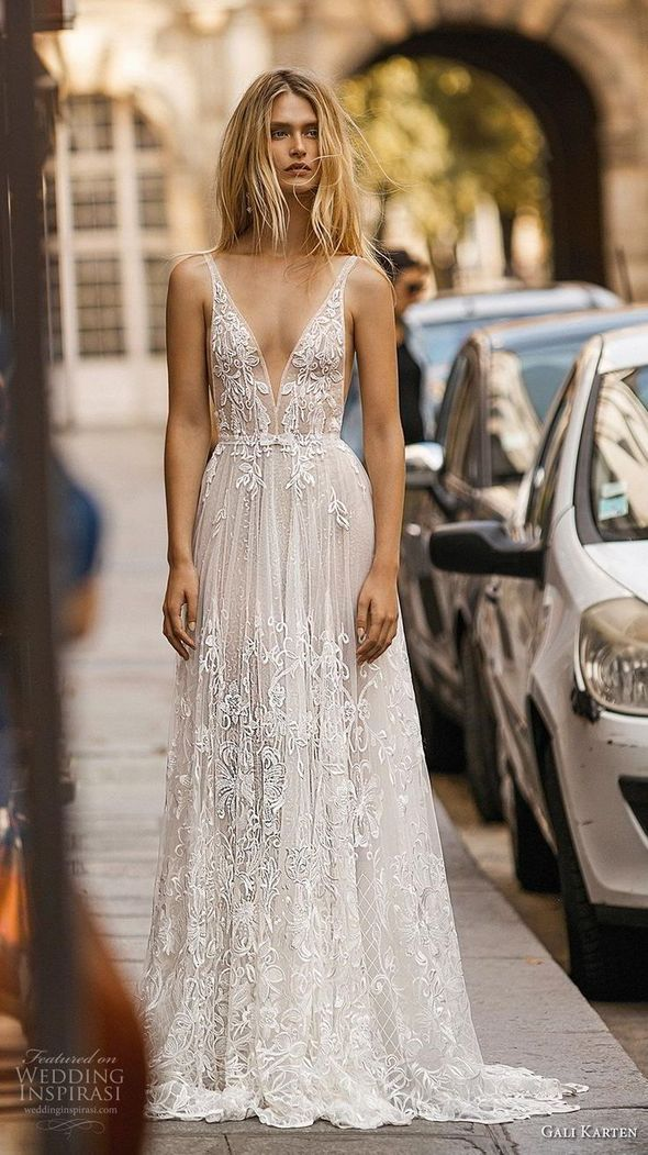 Wedding Dresses Ciara Wedding Dress Gowns For Formal Events Ivory Lace Queewwn In 2020 Wedding Dress Trends Bridal Dresses A Line Wedding Dress