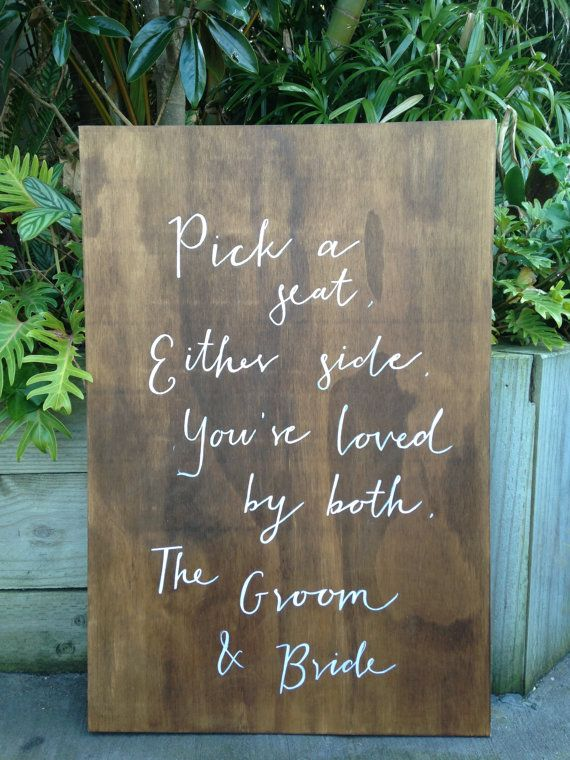 Walnut Stained Plywood Board by TheBridesCollection on Etsy