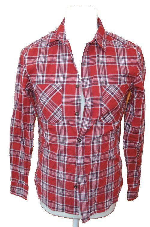 BRUMLA.CZ – Značkový dětský a dospělý second hand a outlet, použité oděvy pro děti a dospělé - Pánská červená kostkovaná košile zn. Topman vel. S