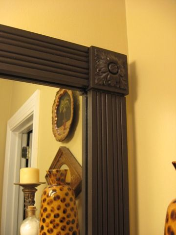 31 best images about frame bathroom mirror on pinterest - Mirror trim for bathroom mirrors ...