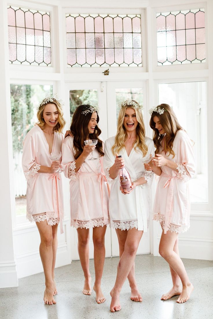 Lauren Lace Satin Bridesmaid Robe – Lerose USA  Gorgeous Wedding Guest Dresses