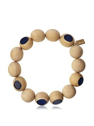 30% OFF Kate Spade Saturday Blue Wooden Color Cut Bracelet