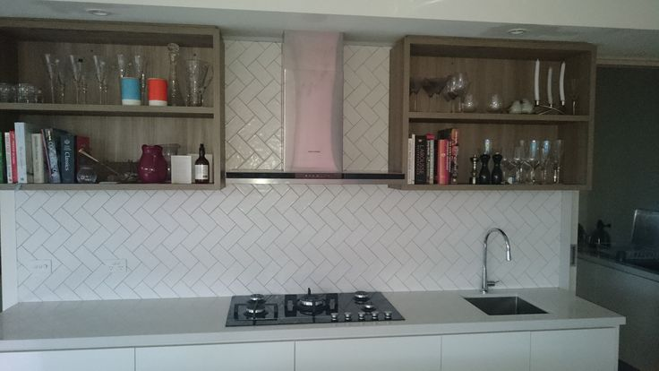 How amazing do these handmade tiles look as a kitchen splashback. Great job.