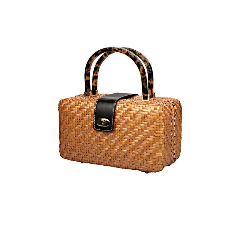 Wicker bag. Love the handles