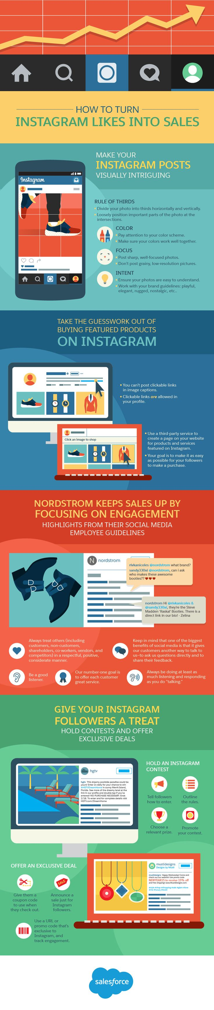 Instagram marketing strategy: To get you well on your way to use Instagram effectively for lead generation, here are 4 guaranteed tactics for turning likes into leads. #Infographic #Instagram #Sales