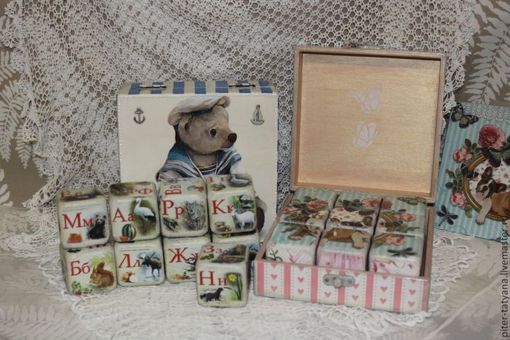 """Кубики деревянные детские в коробе """"Ширли и ее друзья"""""""