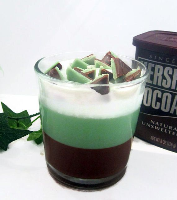 Chocolate Mint Parfait Candle - 15 Incredible Handmade Candle Decoration Ideas