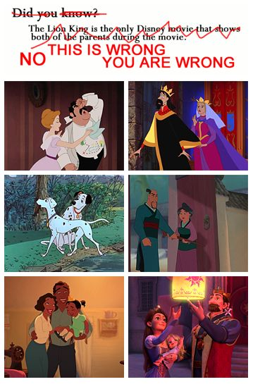 Wrong! Wrong! So wrong! I can even add to this list: Hercules, Lady and the Tramp, Tarzan, The Emperor's New Groove, and Meet the Robinsons. On the Disney/Pixar side: Finding Nemo, The Incredibles, and Brave.