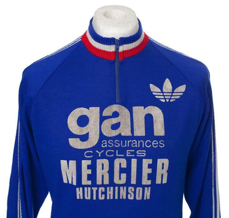 GAN MERCIER HUTCHINSON VINTAGE ANCIEN CYCLING JERSEY MAILLOT CYCLISTE TALBOURDET | Sporting Goods, Cycling, Cycling Clothing | eBay!