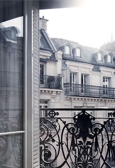 Balconies in Paris.