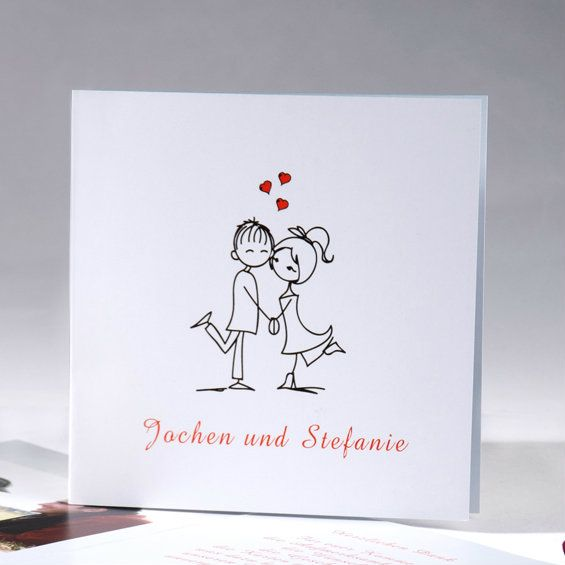 Günstige Einladungskarten Hochzeit Online  Optimalkarten Love Birds Lustige  Hochzeitseinladungen Mit Jute Band   Papiersorte: Holzfreie Papier Farbe  Der ...