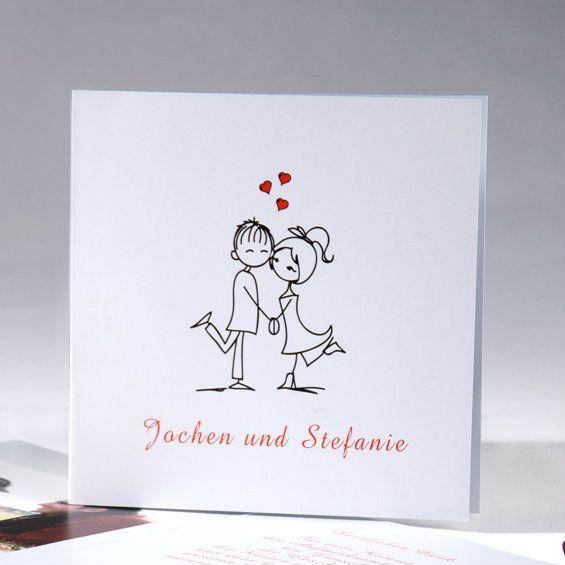 Fotokarten zur Hochzeit mit Lustig Image des Brautpaares wedding invitation