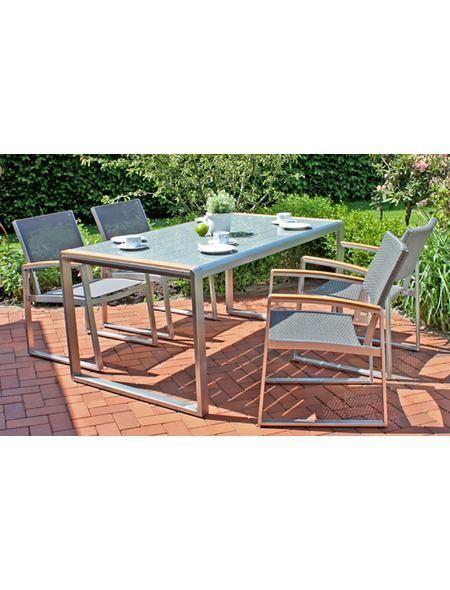Gartenmöbelset »AVA«, 5-tlg, 4 Sessel, Tisch, Alu/Polyrattan Jetzt