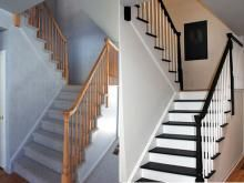 A little paint goes a long way! Here's an easy way to fix an outdated staircase.