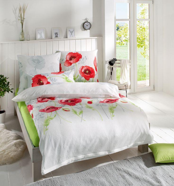 Mohnblumen für's Schlafzimmer! Erwin Müller Seersucker Bettwäsche für ein sommerliches Flair und sagenhaft entspannte Nächte!