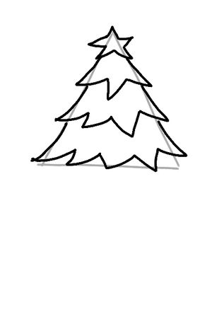 Draw a Christmas Tree: A Step-by-Step Guide: Drawing the Last Branches