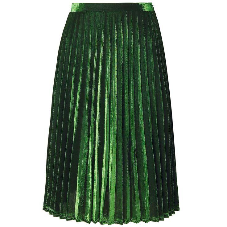 Emerald plissé skirt @ mode musthaves