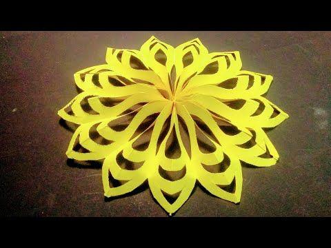3D flower design by colour paper /Paper cutting art /Rainbow