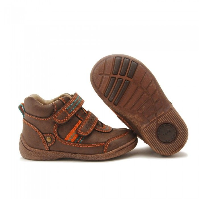 Start-rite Super Soft Max, Brown Leather Riptape Boys Boots - Boys Shoes